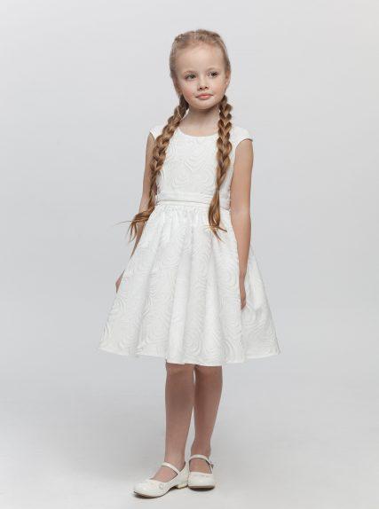 Платье с вырезом на спинке белое