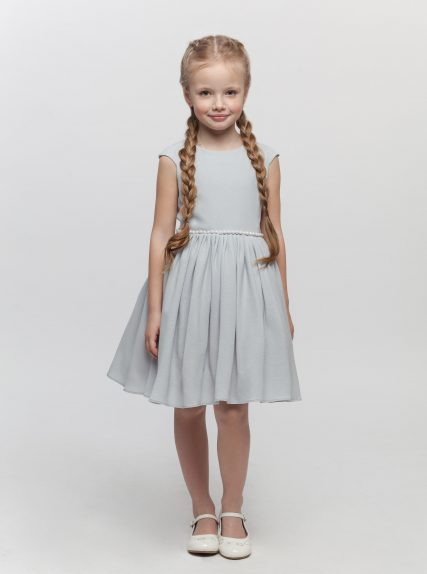 Платье с блёстками серое