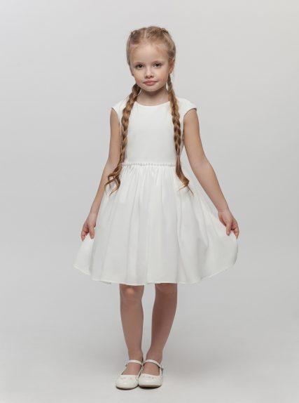 Платье с блёстками белое