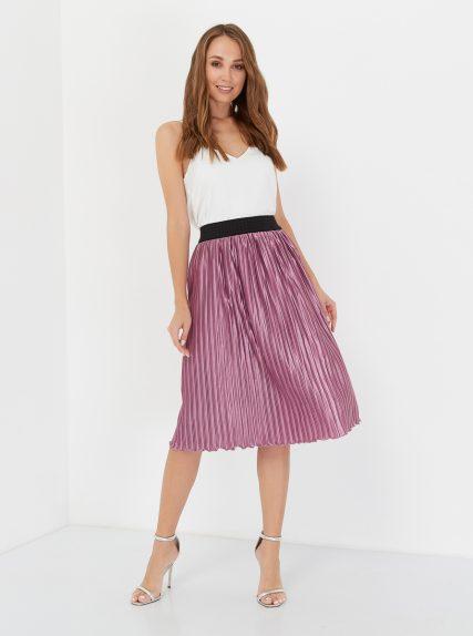 юбка плиссированая розовая