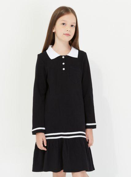 Платье поло чёрное