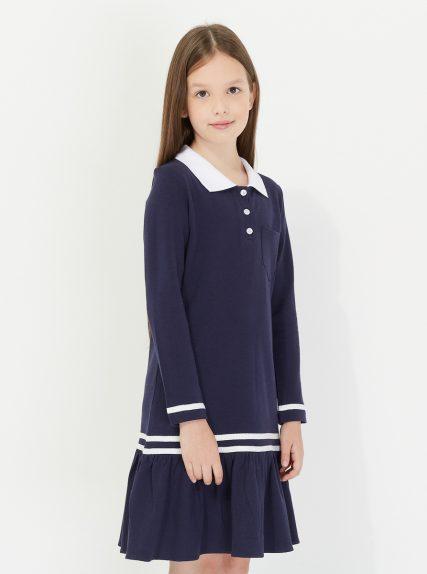 Платье поло тёмно-синее