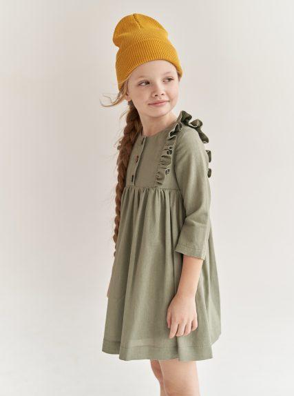 Платье из льна хакки