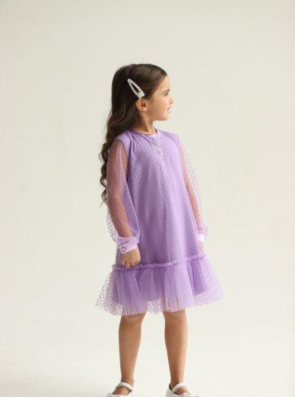 Платье фантазия сиреневое