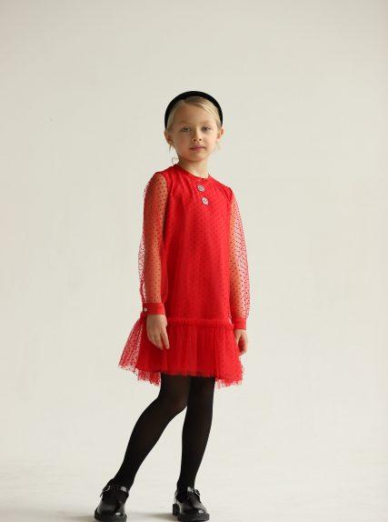 Платье фантазия красное