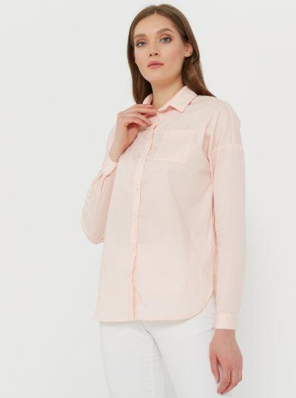 Рубашка оверзайз персиковая