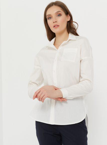 Рубашка оверзайз белая