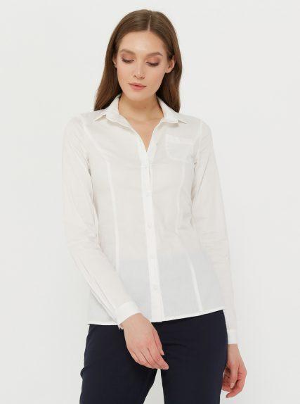 Рубашка классическая приталенная белая