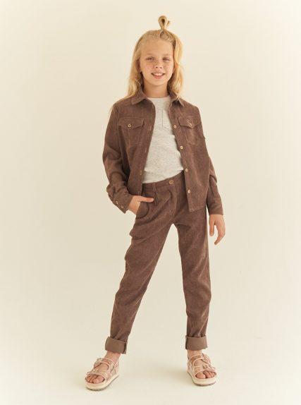 костюм вельветовый коричневый