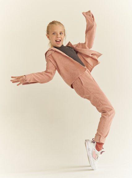 костюм вельветовый розовый