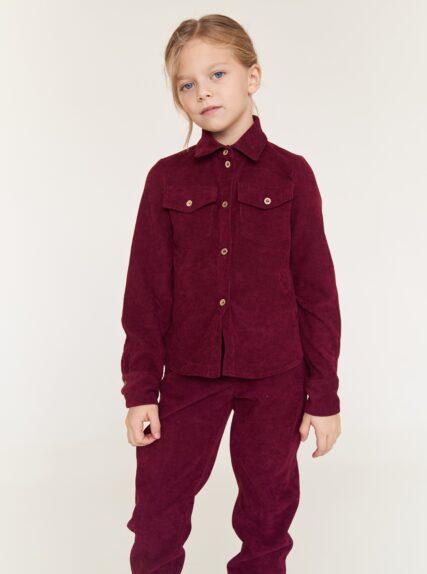 костюм вельветовый бордовый