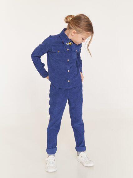 костюм вельветовый синий